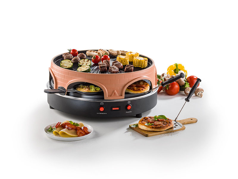 Pizza/Raclette-Grill 4-in-1